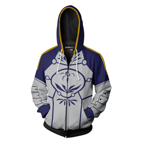 Fate Stay Night Saber Hoodie Cosplay Jacket Zip Up