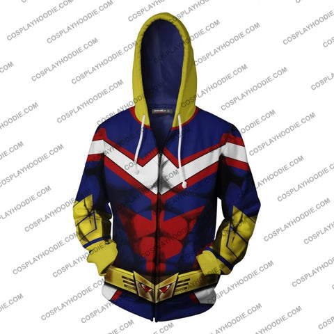 Image of My Hero Academia All Might Hoodie Cosplay Jacket Zip Up