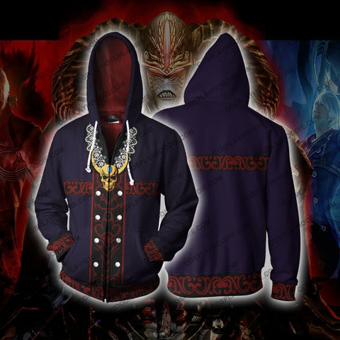 Devil May Cry Sparda Zip Up Hoodie Cosplay Jacket