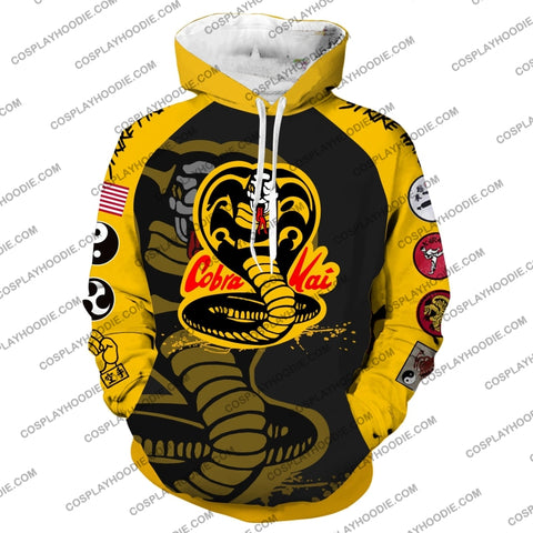 Image of Cobra Kai No Mercy Cosplay Hoodie Jacket