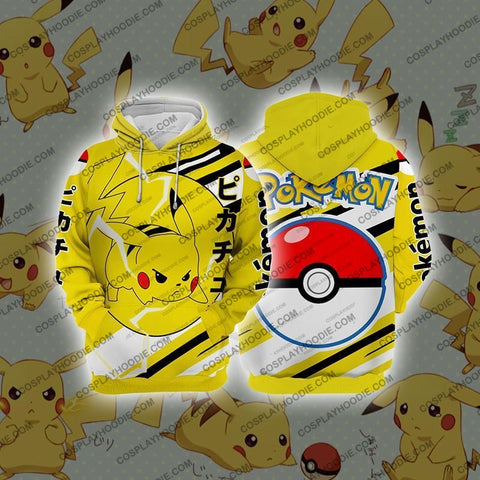 Image of Pokemon Pikachu Cosplay Hoodie Jacket