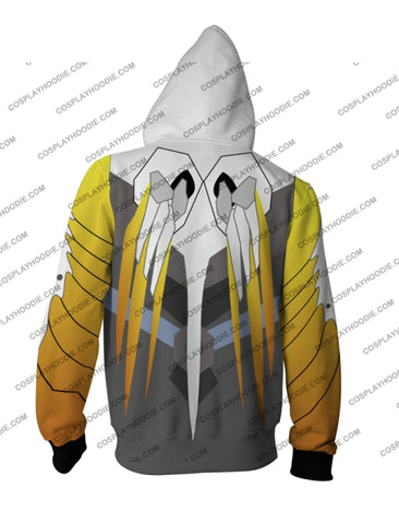 Overwatch Mercy Hoodie Cosplay Jacket Zip Up