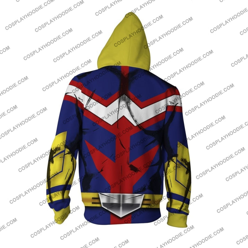 My Hero Academia All Might Hoodie Cosplay Jacket Zip Up