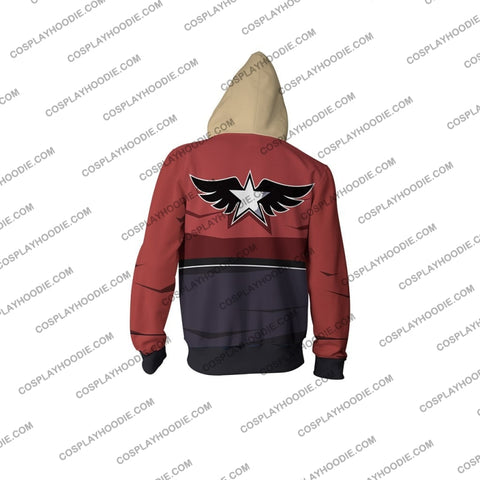 Image of Garou Mark Of The Wolves Rock Howard Hoodie Cosplay Jacket Zip Up