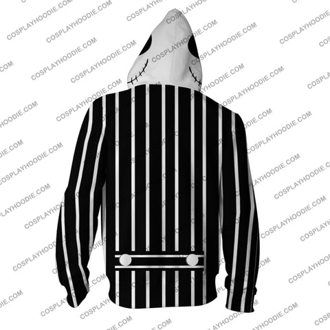 Image of The Nightmare Before Christmas Jack Skellington Hoodie Cosplay Jacket Zip Up