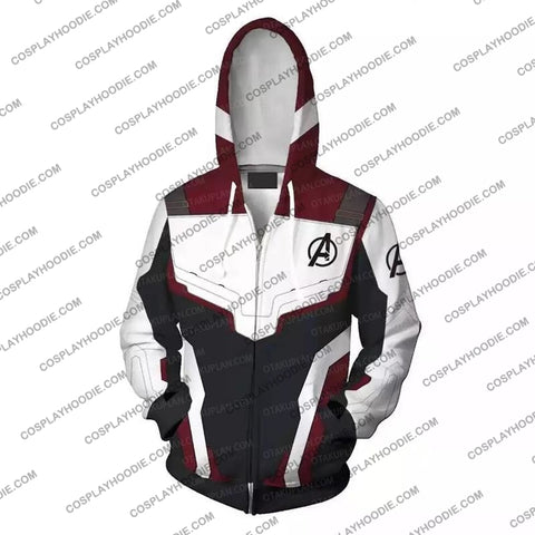 Image of The Avengers 4 Avengers: Endgame Quantum Suits White Suit Hoodie Cosplay Jacket Zip Up