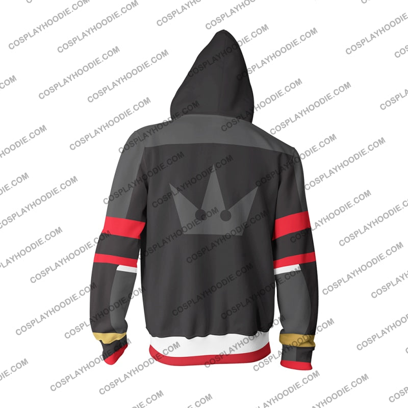 Kingdom Hearts Iii Sora Hoodie Cosplay Jacket Zip Up