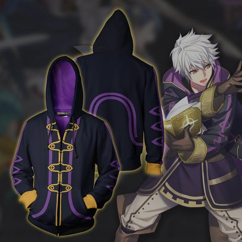 Image of Fire Emblem Robin Hoodie Cosplay Jacket Zip Up