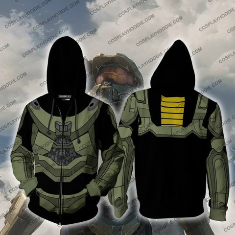 Image of Halo Master Chief Hoodie Cosplay Jacket Zip Up