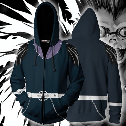 Image of Death Note Ryuk Hoodie Cosplay Jacket Zip Up