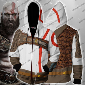God Of War Kratos Hoodie Cosplay Jacket Zip Up