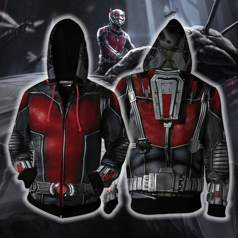 Image of Ant Man Hoodie Cosplay Jacket Zip Up / Us Xs (Asian S)
