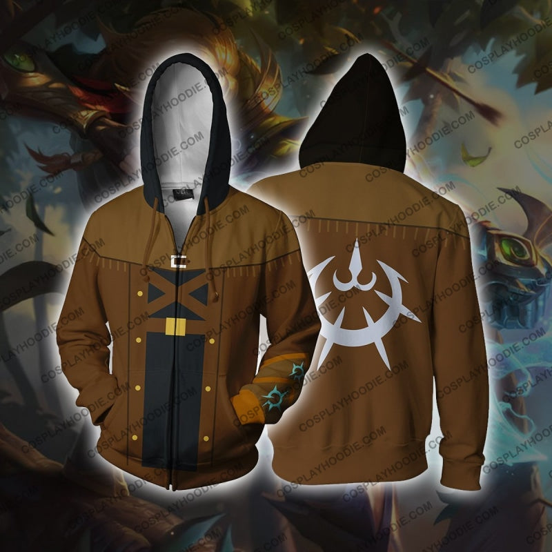Ezreal League Of Legends Zip Up Hoodie Cosplay Jacket