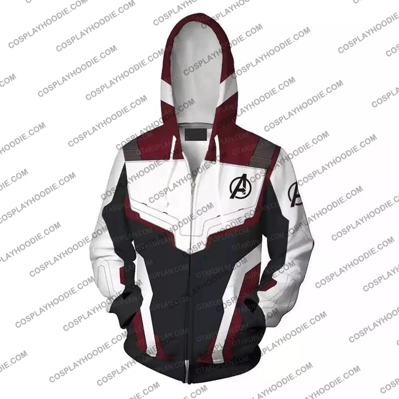 The Avengers 4 Avengers: Endgame Quantum Suits White Suit Cosplay T-Shirt Jacket