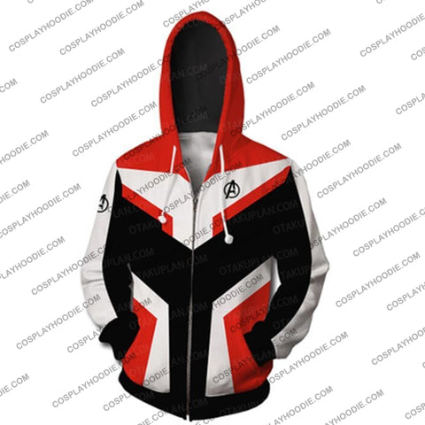 The Avengers 4 Avengers: Endgame Quantum Suits Orange Suit Hoodie Cosplay Jacket Zip Up
