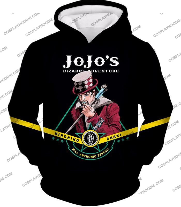 Will Anthonio Zappeli Black Anime T-Shirt Jo002 Hoodie / Us Xxs (Asian Xs)