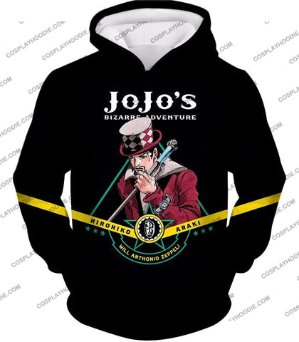 Image of Will Anthonio Zappeli Black Anime T-Shirt Jo002 Hoodie / Us Xxs (Asian Xs)