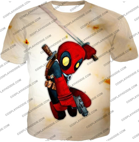 Image of Cool Deadpool Funny Figure Action White T-Shirt Dp002 / Us Xxs (Asian Xs)
