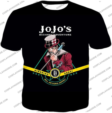 Image of Will Anthonio Zappeli Black Anime T-Shirt Jo002 / Us Xxs (Asian Xs)
