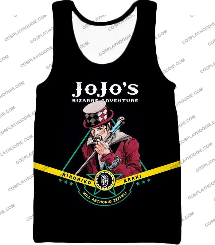 Will Anthonio Zappeli Black Anime T-Shirt Jo002 Tank Top / Us Xxs (Asian Xs)