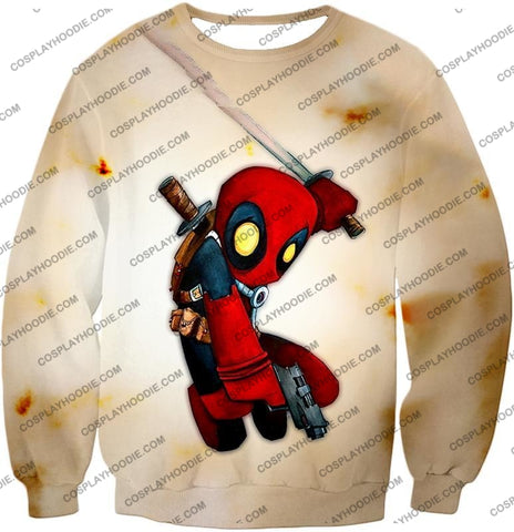 Image of Cool Deadpool Funny Figure Action White T-Shirt Dp002 Sweatshirt / Us Xxs (Asian Xs)