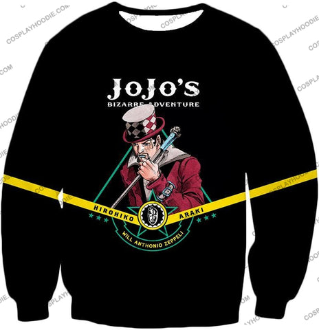 Image of Will Anthonio Zappeli Black Anime T-Shirt Jo002 Sweatshirt / Us Xxs (Asian Xs)