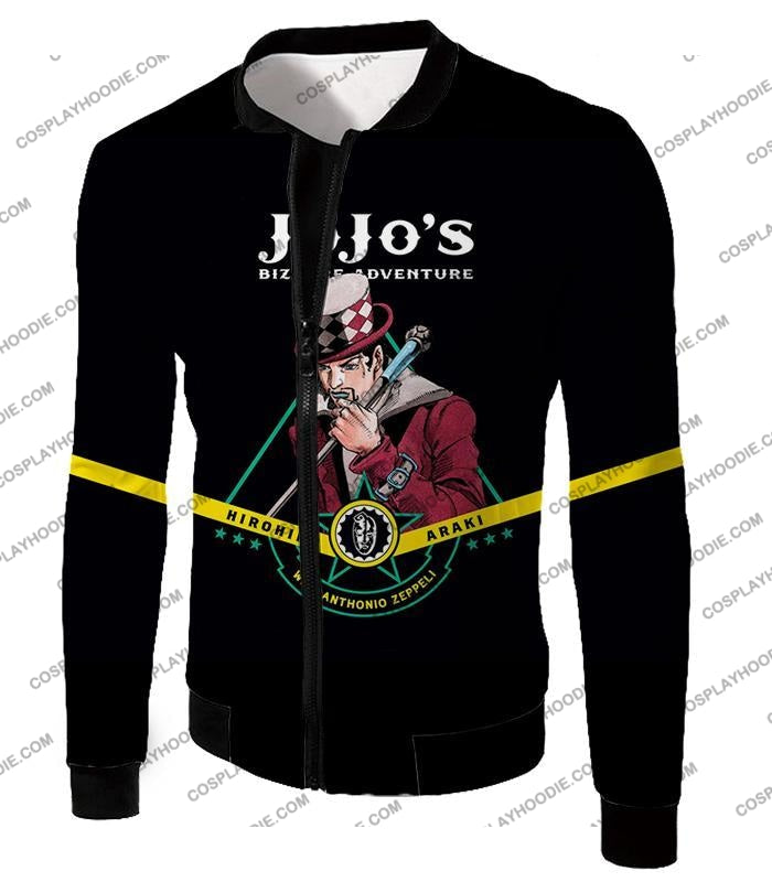 Will Anthonio Zappeli Black Anime T-Shirt Jo002 Jacket / Us Xxs (Asian Xs)