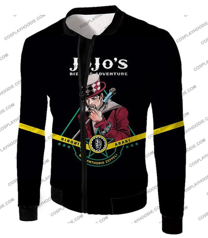 Image of Will Anthonio Zappeli Black Anime T-Shirt Jo002 Jacket / Us Xxs (Asian Xs)