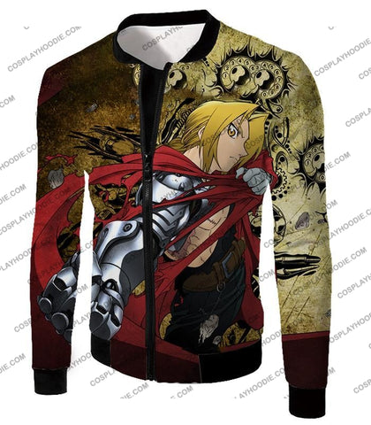 Image of Fullmetal Alchemist Powerful Edward Elrich Featuring Automail Right Hand Cool Action T-Shirt Fa002