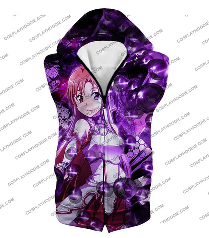 Image of Sword Art Online Super Cute Asuna Yuuki Vrmmorpg Player Cool Anime Graphic T-Shirt Sao020 Hooded