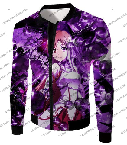 Image of Sword Art Online Super Cute Asuna Yuuki Vrmmorpg Player Cool Anime Graphic T-Shirt Sao020 Jacket /