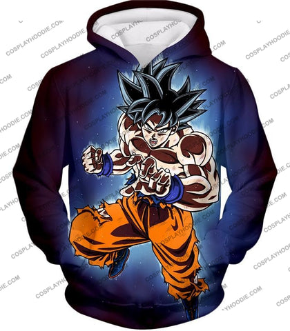 Image of Dragon Ball Super Incredible Goku Ultra Instinct Mode Awesome Action T-Shirt Dbs200 Hoodie / Us Xxs