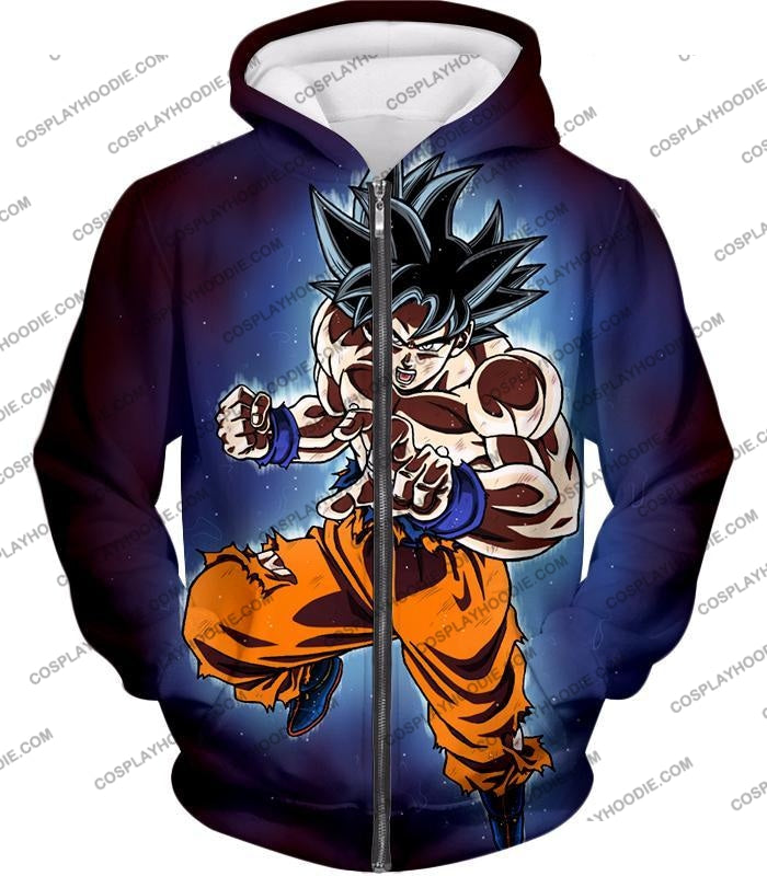 Dragon Ball Super Incredible Goku Ultra Instinct Mode Awesome Action T-Shirt Dbs200 Zip Up Hoodie /