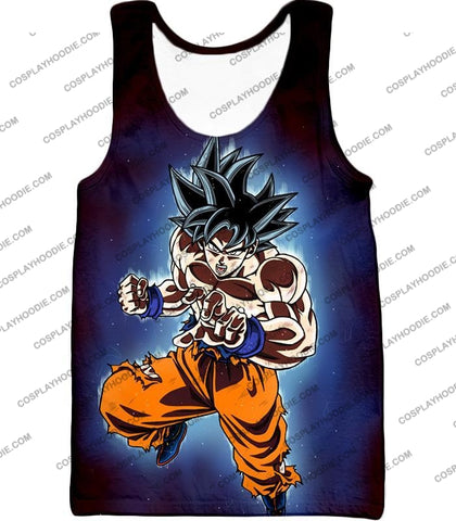 Image of Dragon Ball Super Incredible Goku Ultra Instinct Mode Awesome Action T-Shirt Dbs200 Tank Top / Us
