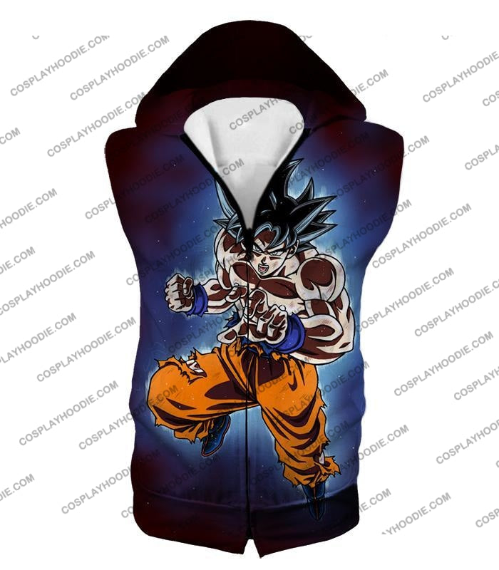 Dragon Ball Super Incredible Goku Ultra Instinct Mode Awesome Action T-Shirt Dbs200 Hooded Tank Top