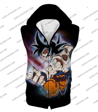Image of Dragon Ball Super Ultimate Form Goku Ultra Instinct Cool Action Black T-Shirt Dbs204 Hooded Tank Top