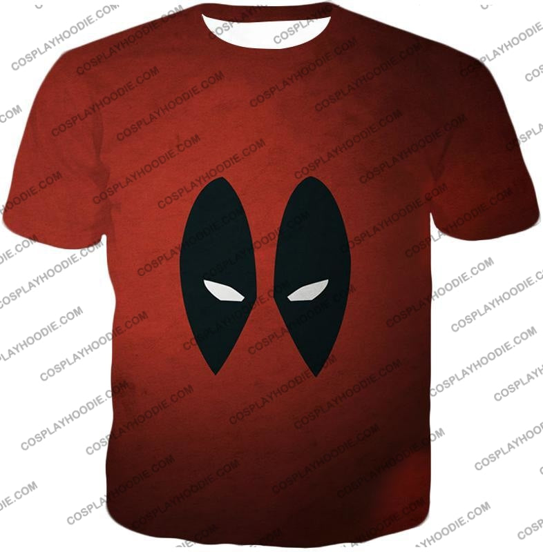 Super Cool Deadpool Eyes Promo Awesome Red T-Shirt Dp021 / Us Xxs (Asian Xs)