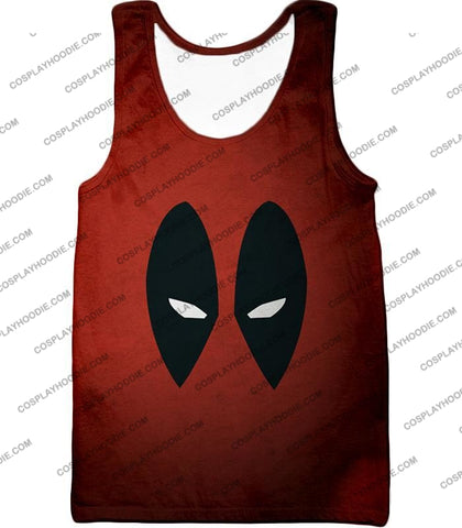 Image of Super Cool Deadpool Eyes Promo Awesome Red T-Shirt Dp021 Tank Top / Us Xxs (Asian Xs)