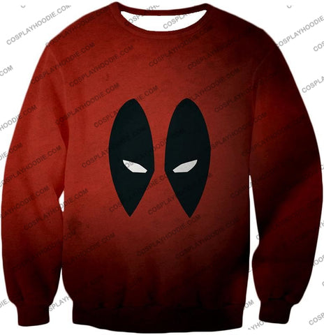Image of Super Cool Deadpool Eyes Promo Awesome Red T-Shirt Dp021 Sweatshirt / Us Xxs (Asian Xs)