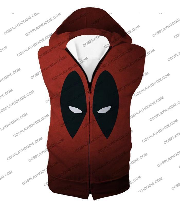 Super Cool Deadpool Eyes Promo Awesome Red T-Shirt Dp021 Hooded Tank Top / Us Xxs (Asian Xs)