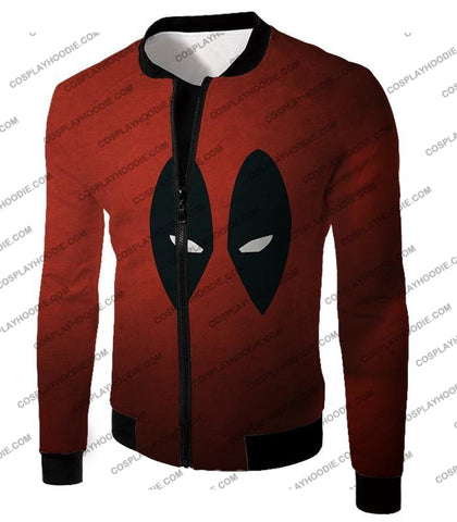 Image of Super Cool Deadpool Eyes Promo Awesome Red T-Shirt Dp021 Jacket / Us Xxs (Asian Xs)
