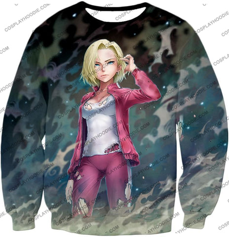 Image of Dragon Ball Super Very Cute Fighter Android 18 Extremely Pretty Anime Graphic T-Shirt Dbs213