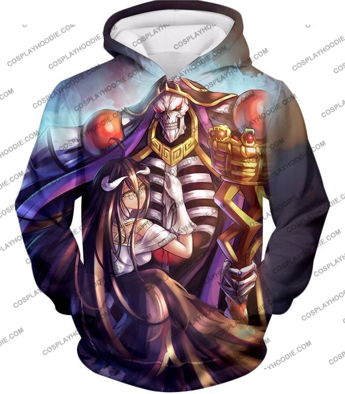 Overlord Ainz Ooal Gown Extremely Evil Sorcerer King Super Cool Anime T-Shirt Ol022 Hoodie / Us Xxs