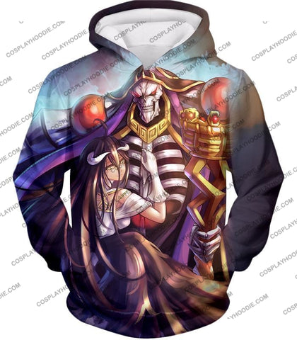 Image of Overlord Ainz Ooal Gown Extremely Evil Sorcerer King Super Cool Anime T-Shirt Ol022 Hoodie / Us Xxs