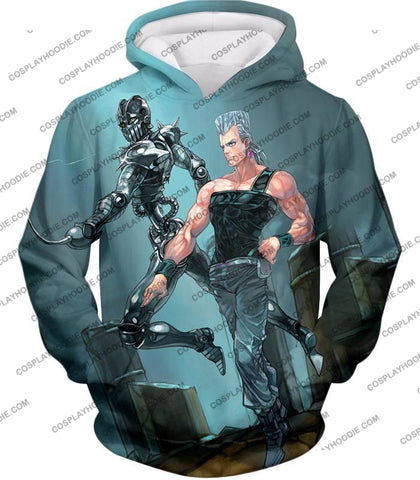 Image of Jojos Adventure C Jean Pierre Stand Silver Chariot Graphic T-Shirt Jo022 Hoodie / Us Xxs (Asian Xs)