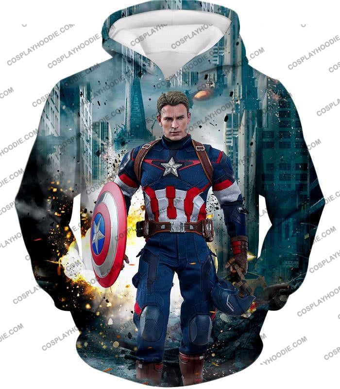 The Avengers First Avenger Captain America Action T-Shirt Ta022 Hoodie / Us Xxs (Asian Xs)