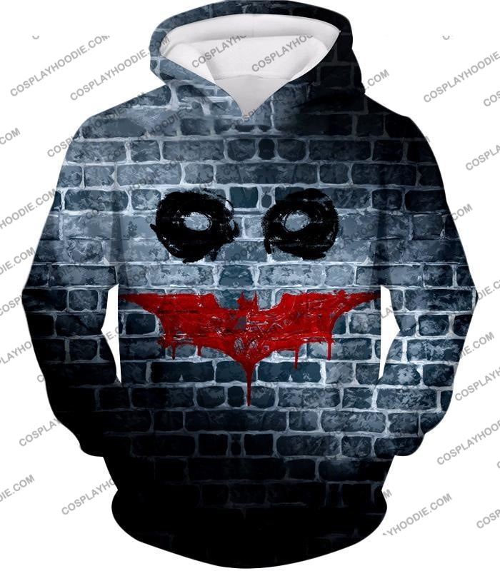 Amazing Batman X Joker Logo Promo Fan Art T-Shirt Bm022 Hoodie / Us Xxs (Asian Xs)