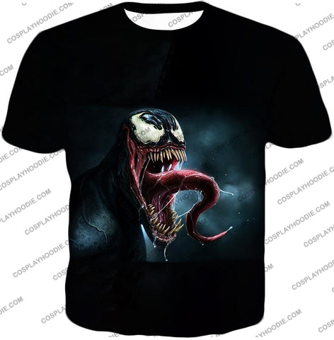 Deadly Symbiotic Alien Venom 3D Black T-Shirt Ve022 / Us Xxs (Asian Xs)