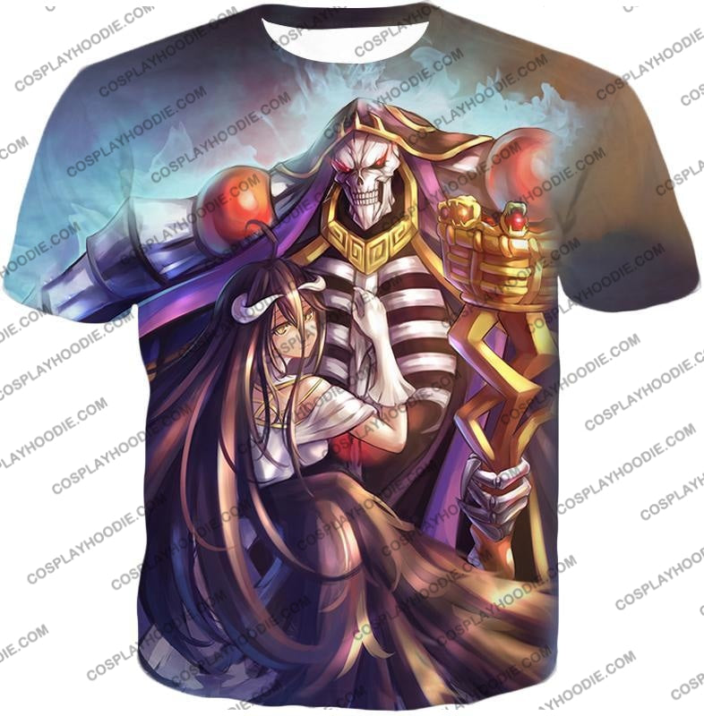 Overlord Ainz Ooal Gown Extremely Evil Sorcerer King Super Cool Anime T-Shirt Ol022 / Us Xxs (Asian