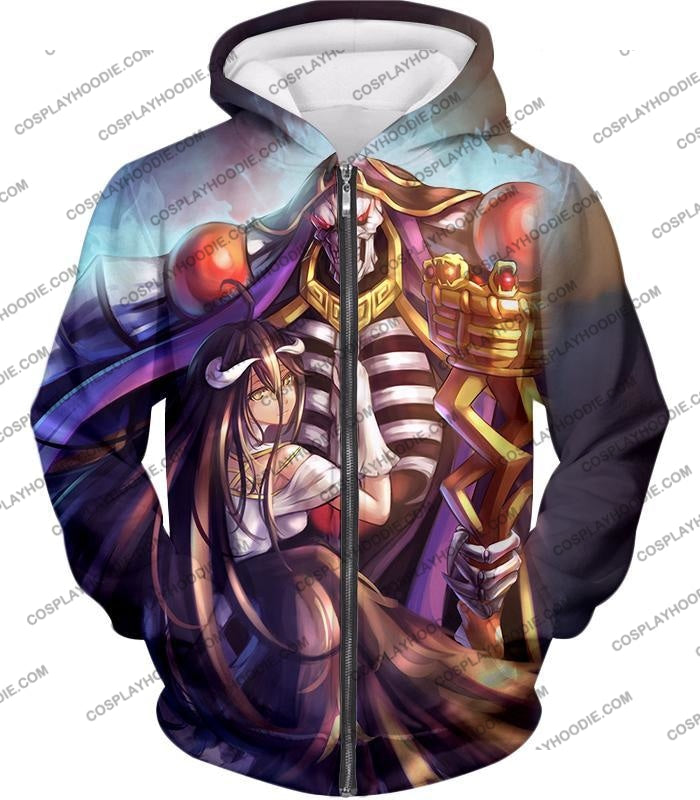 Overlord Ainz Ooal Gown Extremely Evil Sorcerer King Super Cool Anime T-Shirt Ol022 Zip Up Hoodie /